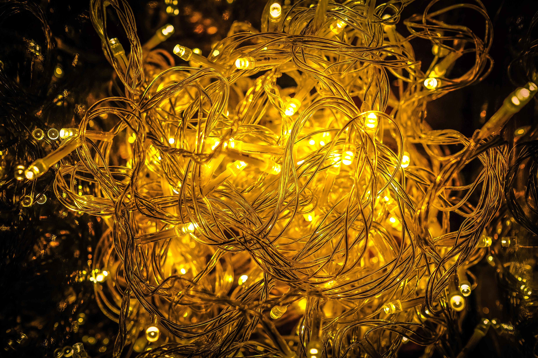 free download - Amber Christmas Lights