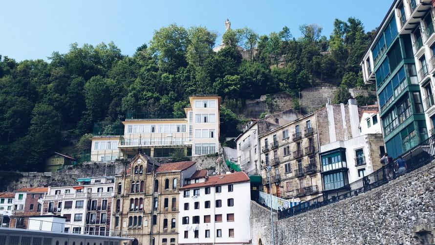 houses, village, buildings