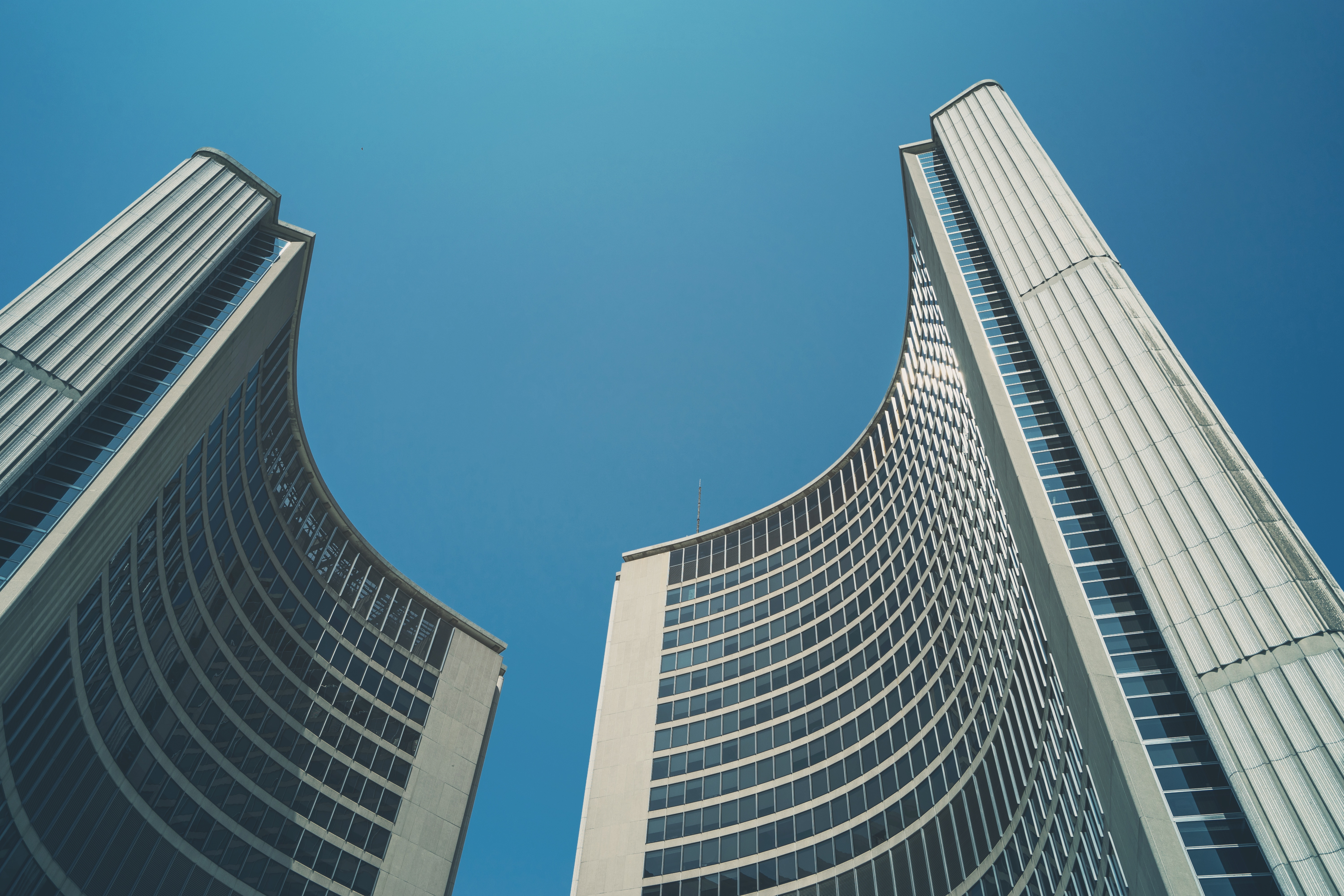 Building Photography high rise buildings on low angle photography · free stock photo