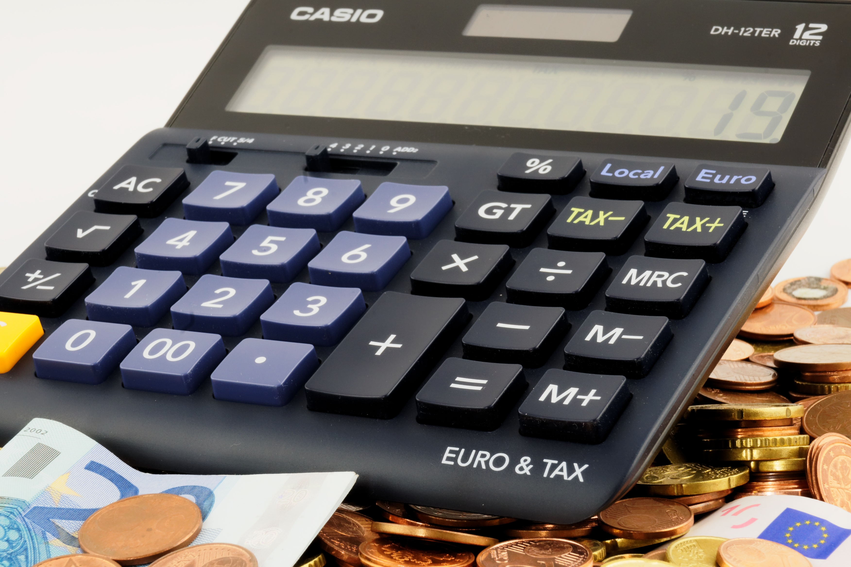 Euro Conversion Chart To Us Dollars: Free stock photo of calculator cent coins,Chart