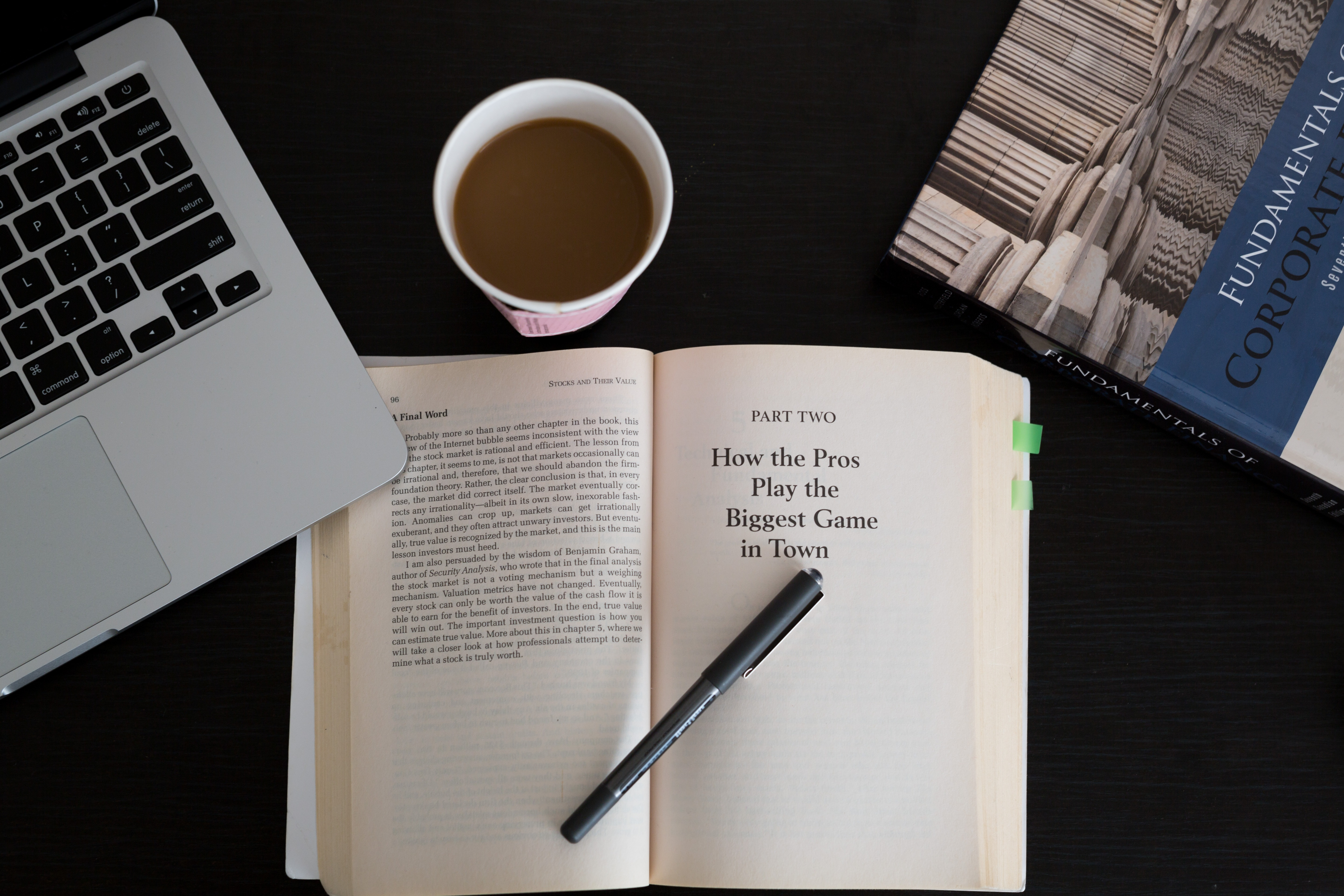 Free stock photo of books, business, coffee