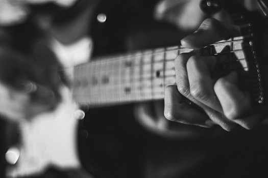 Free stock photo of black-and-white, hands, musician, macro