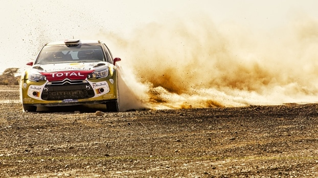 Free stock photo of car, race, citroen, gravel
