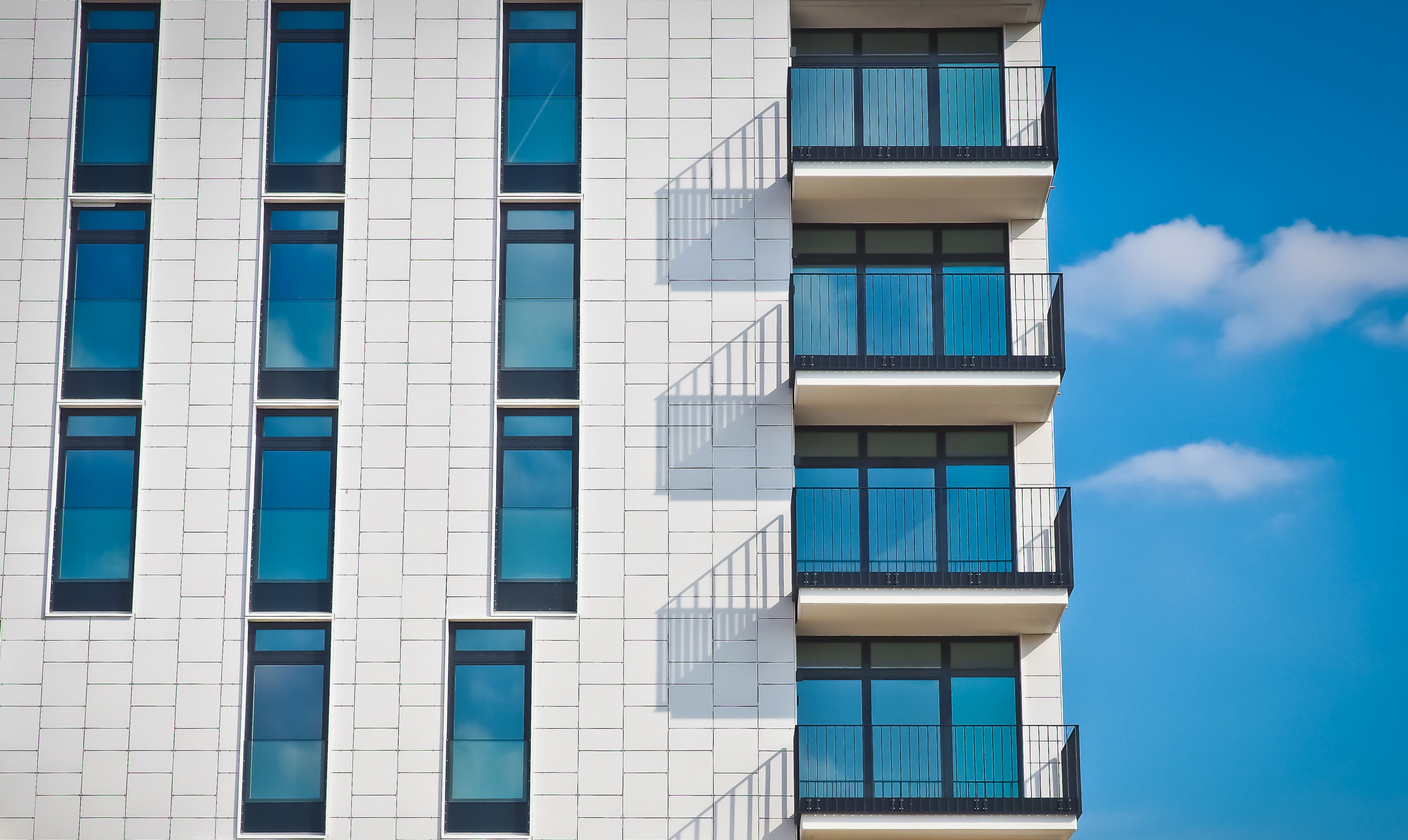 Free Stock Photo Of Sky Clouds Building Glass