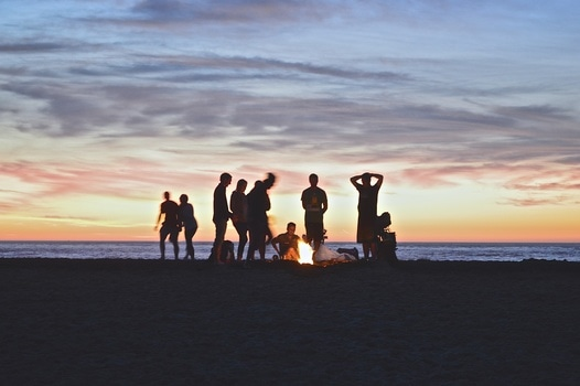 Free stock photo of beach, people, summer, friends
