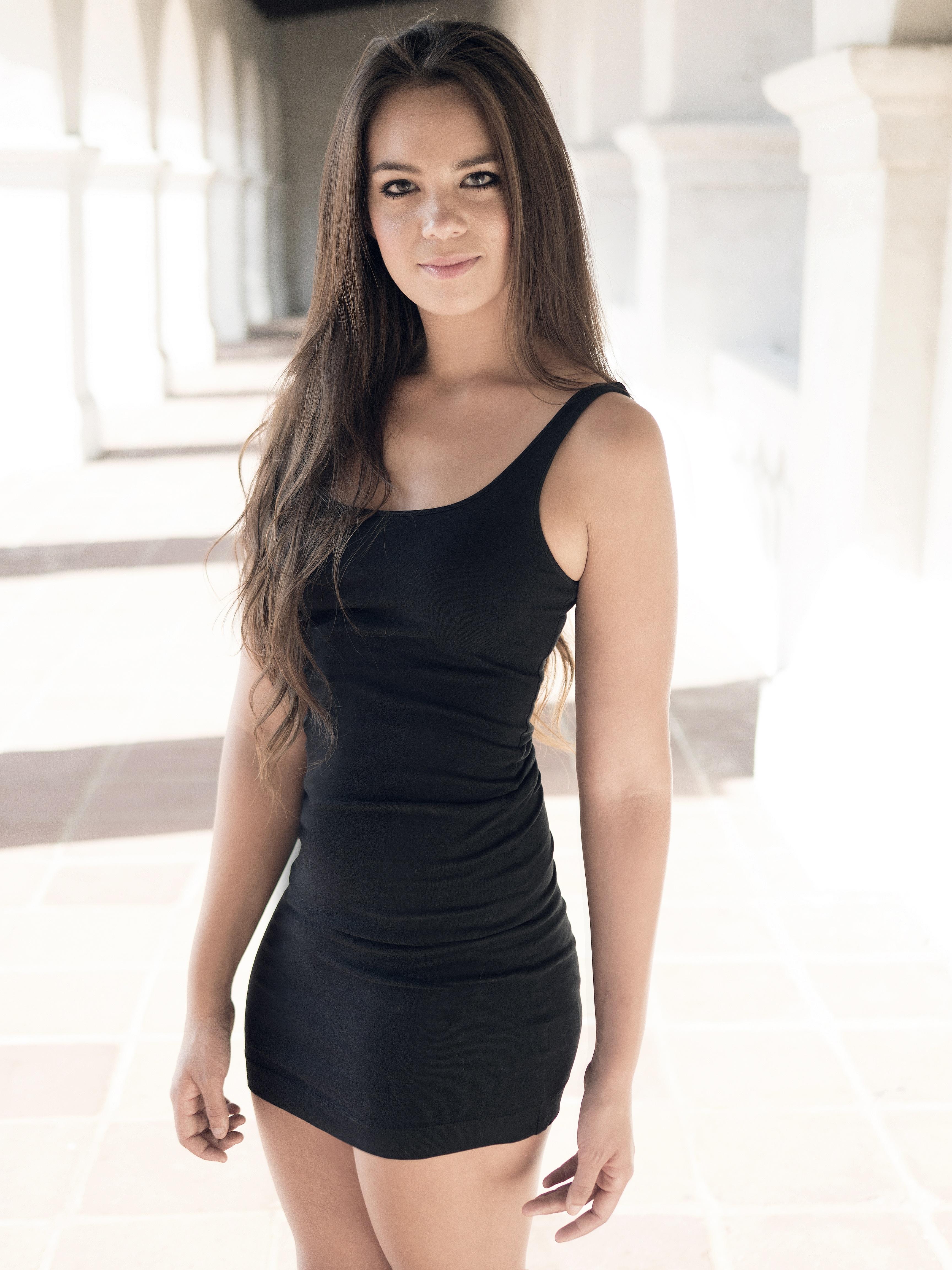 Free Stock Photo Of Adolescent Beautiful Black Dress