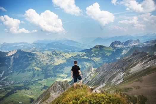 Free stock photo of landscape, mountains, man, person