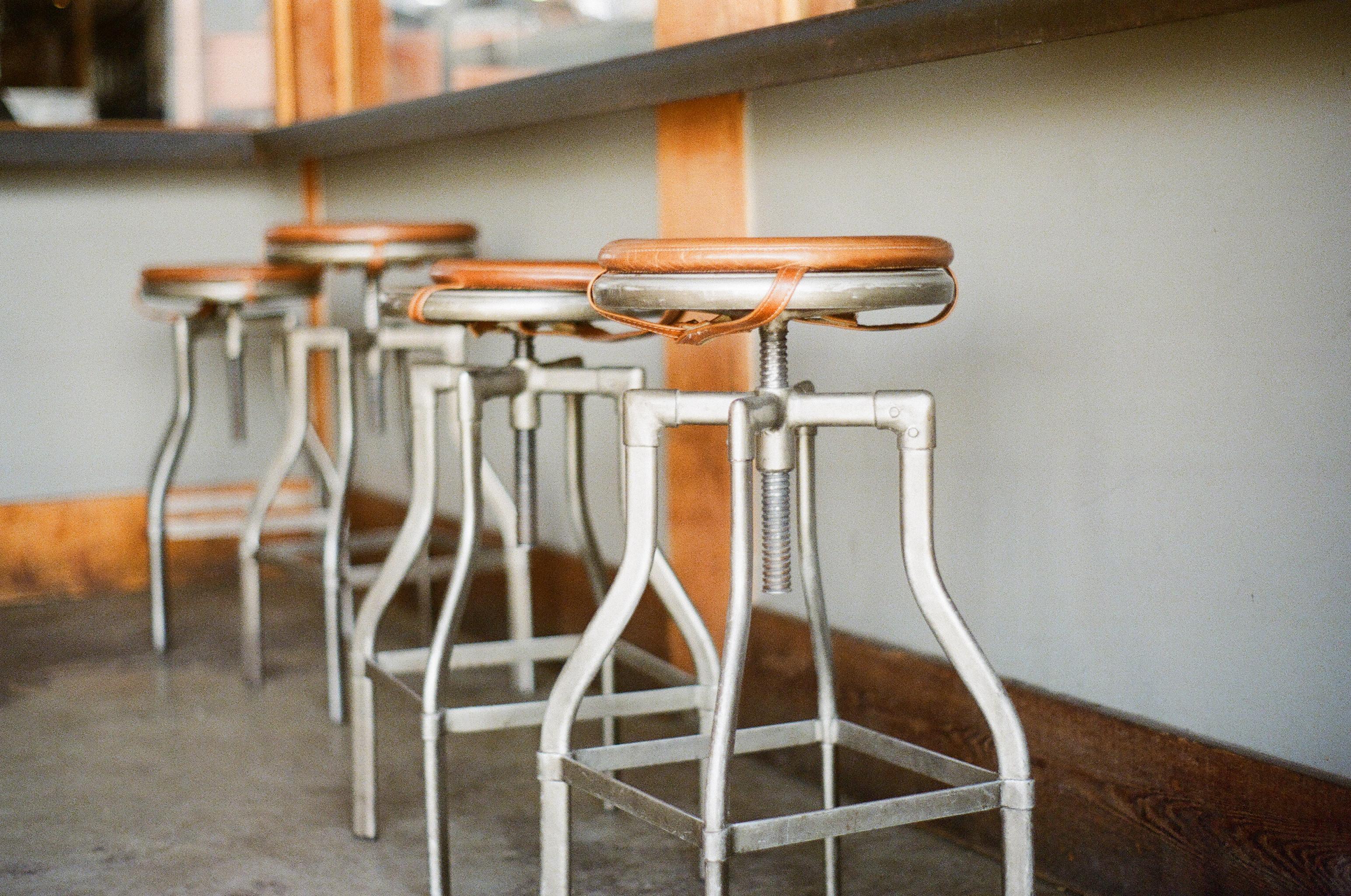 Free stock photo of bar, old, stools