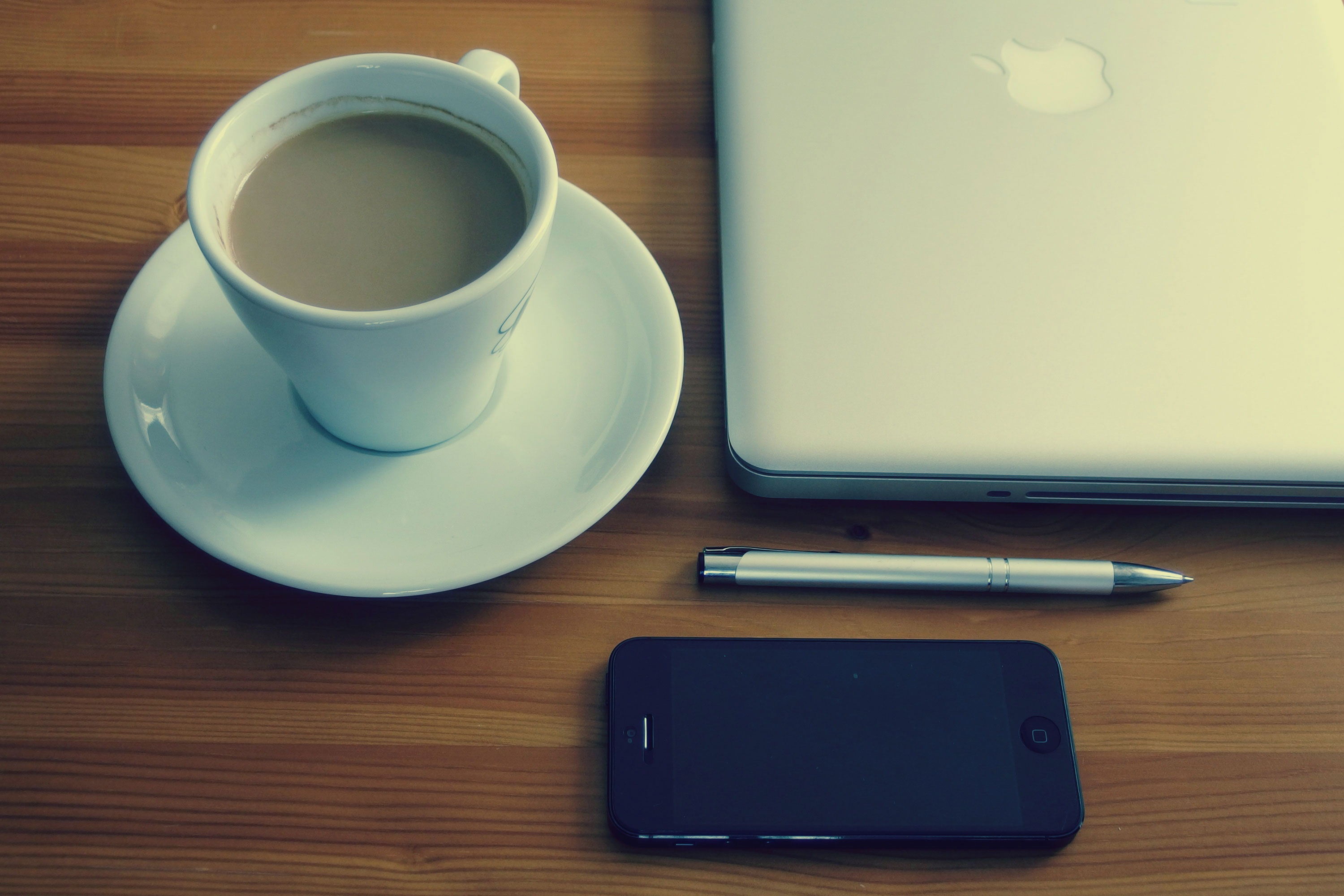 Free stock photo of apple business coffee