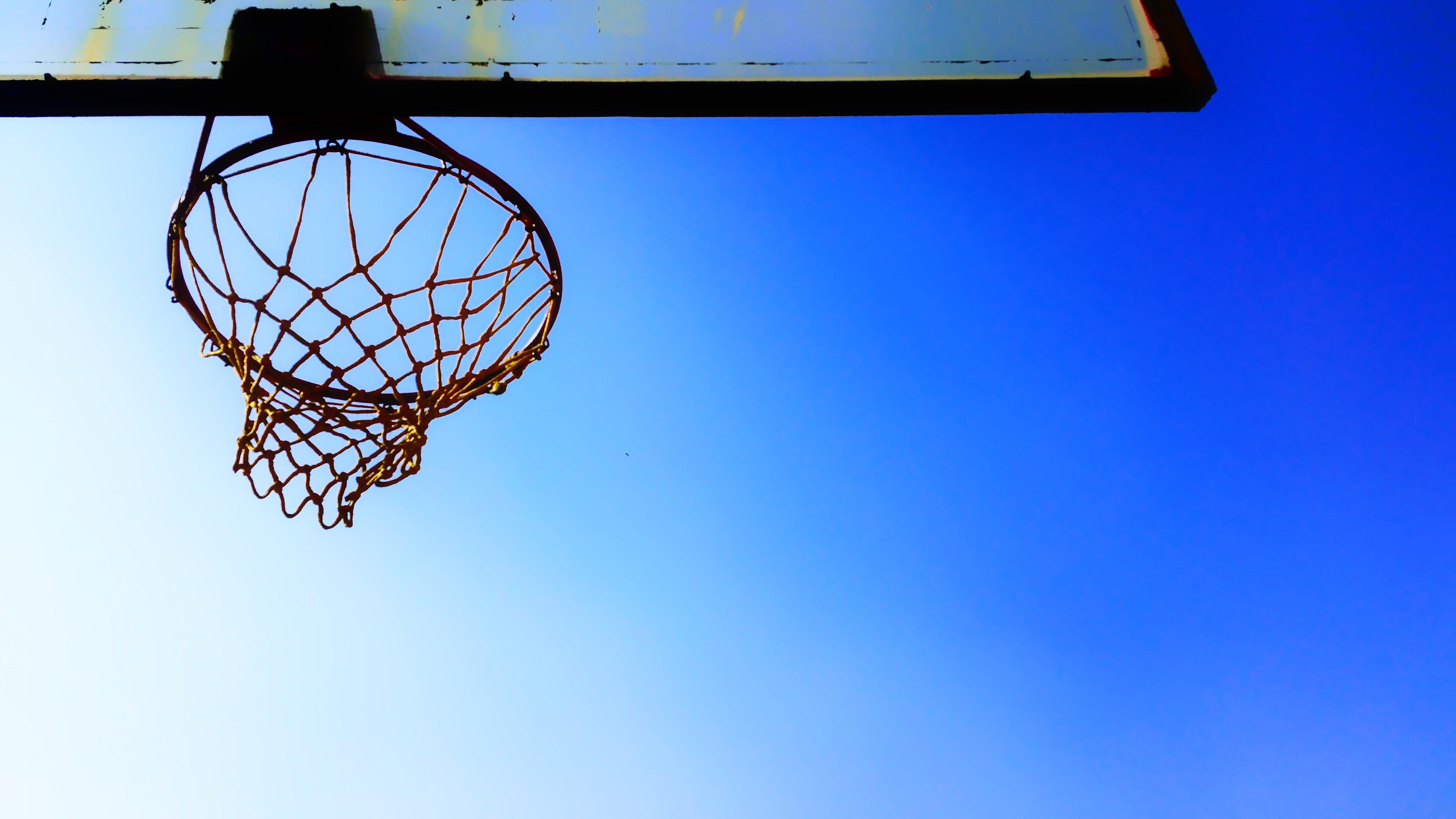 free stock photo of basketball hoop blue sky clear sky