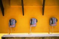call box, phone box, phones