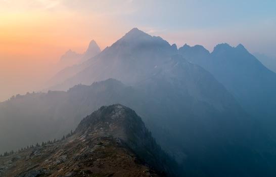 Free stock photo of mountains, nature, sunset, sunrise