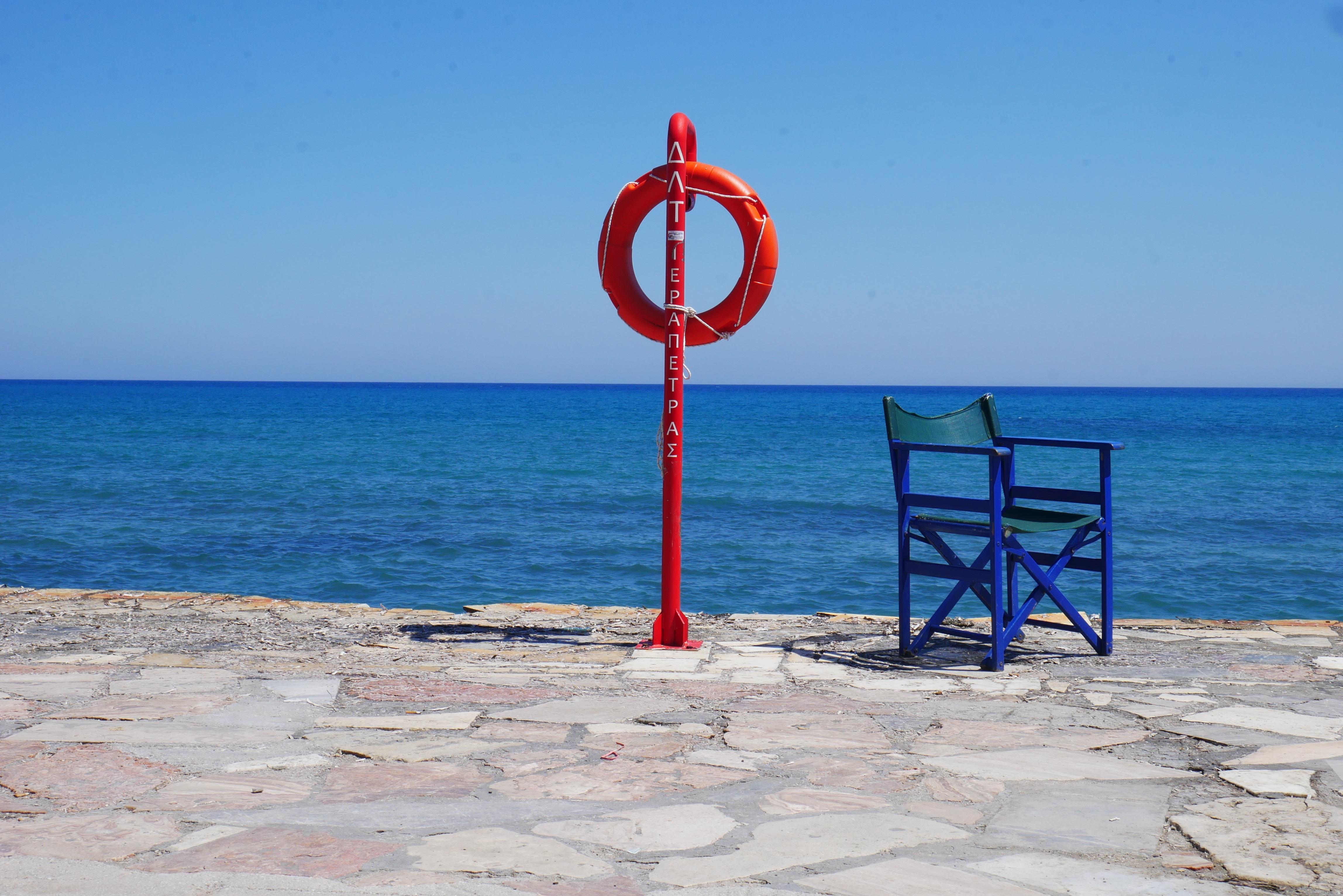 Free stock photo of baywatch beach beach chair