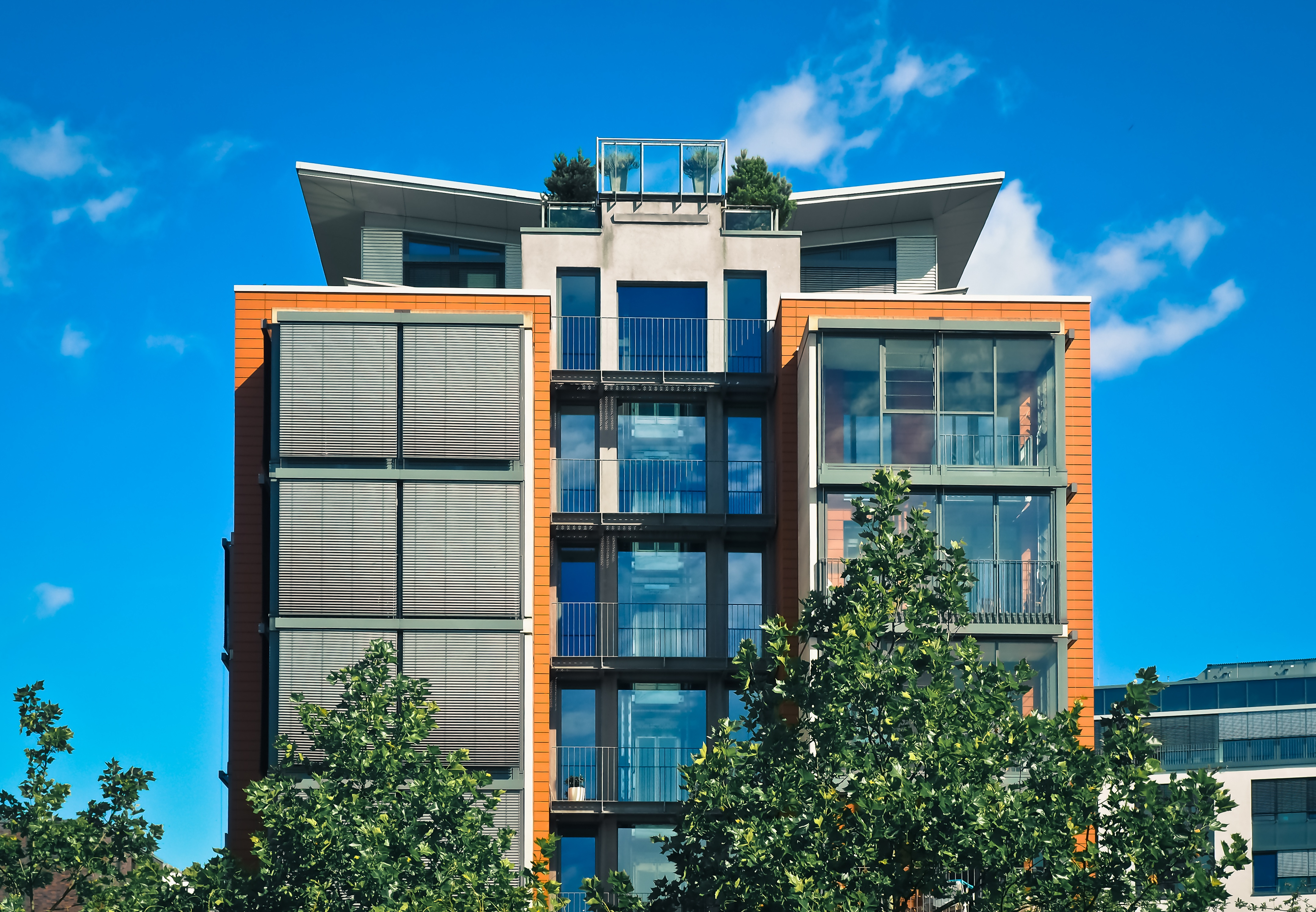 Free stock photo of apartment balcony building for Building balcony