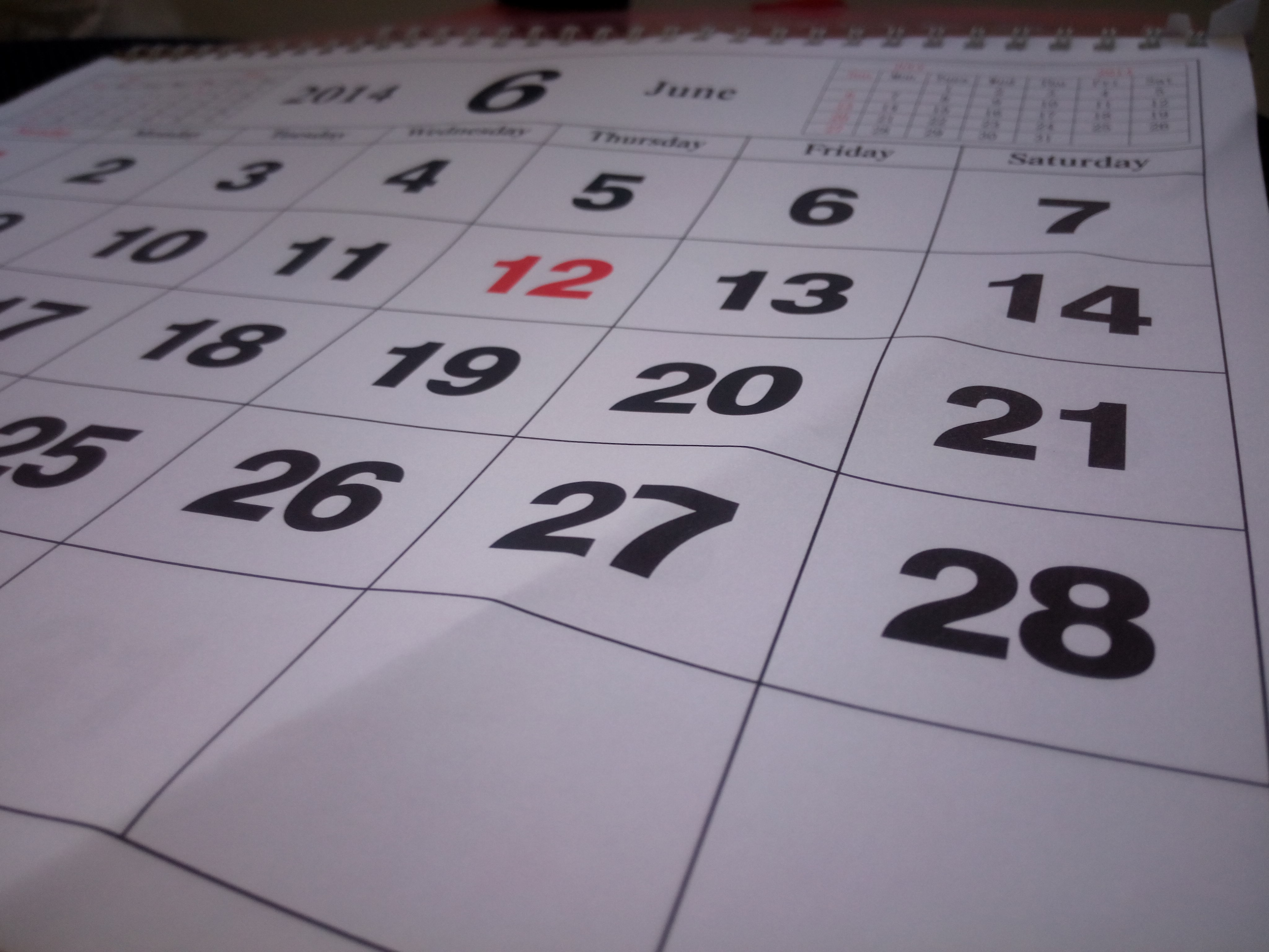 Daily Stock Charts: Free stock photo of calendar daily calendar june 2014,Chart