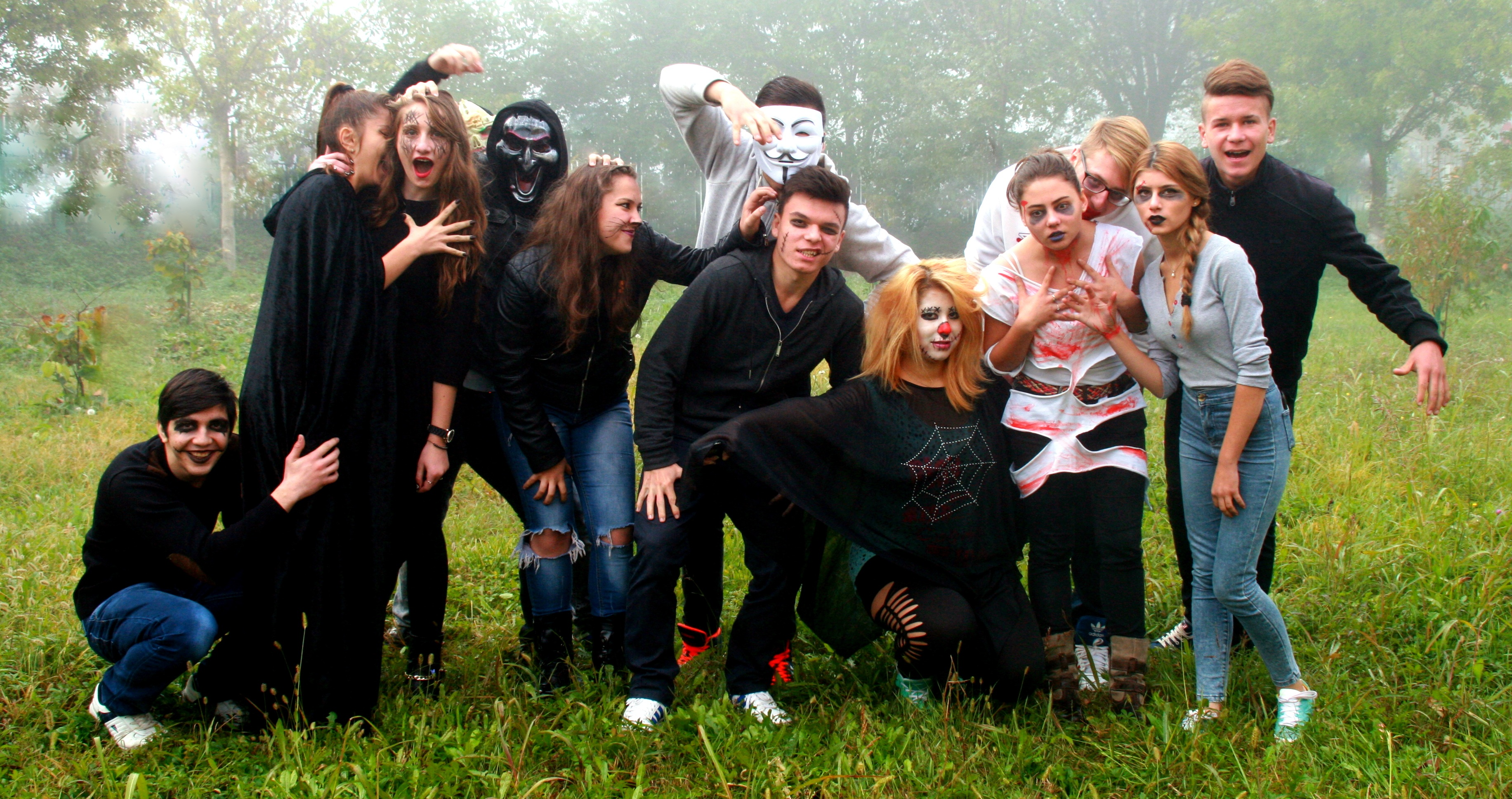 free stock photo of group halloween horror