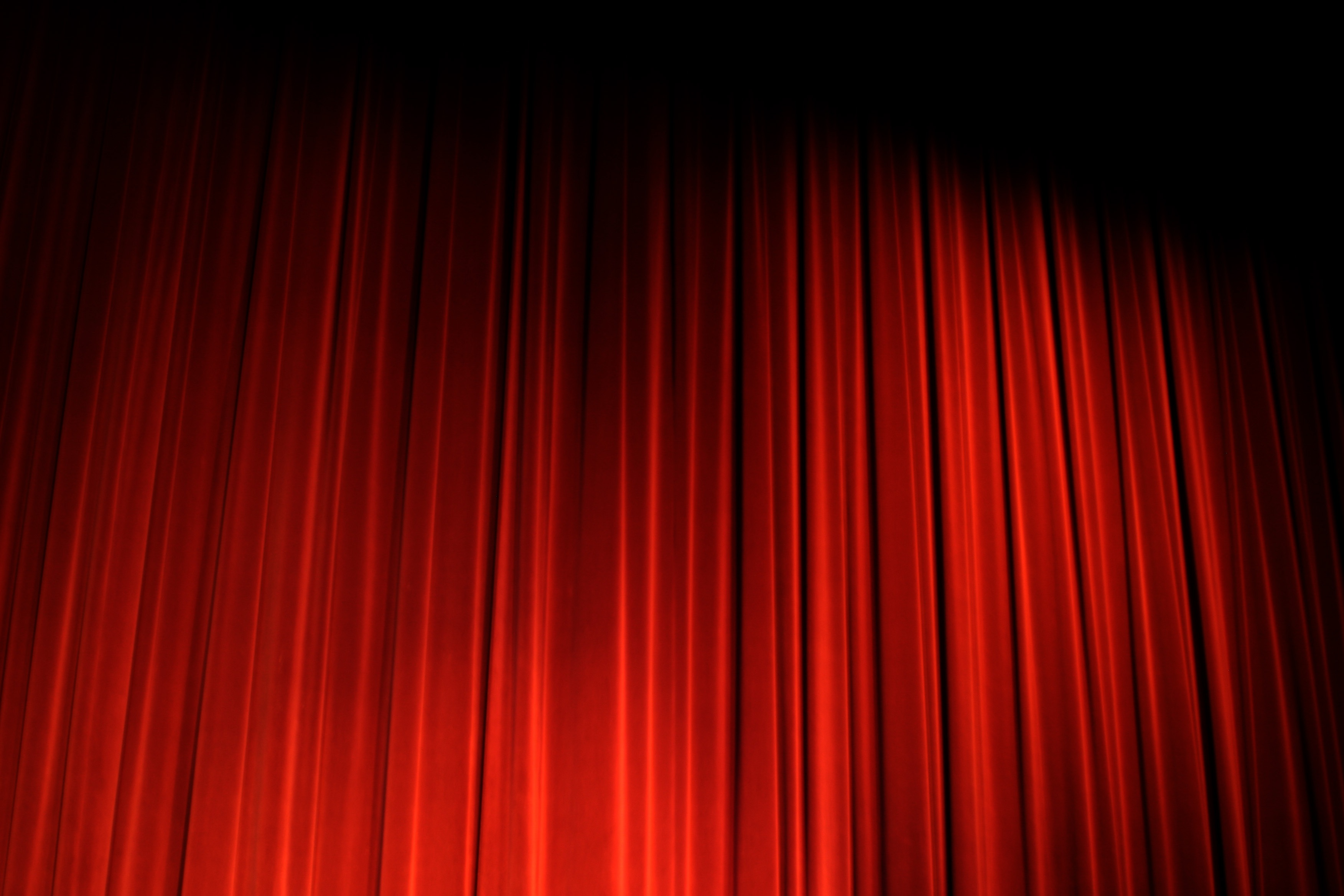 Red stage curtain with lights - Free Download