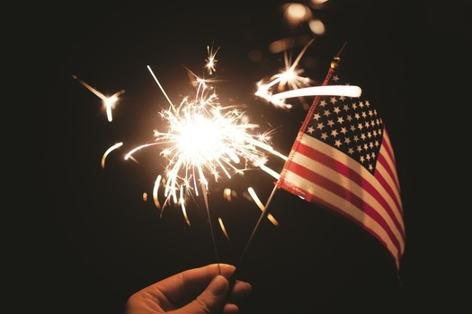 Free stock photo of firework, sparkler, united states of america, flag