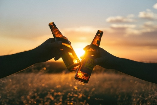 Free stock photo of dawn, sunset, hands, drinks