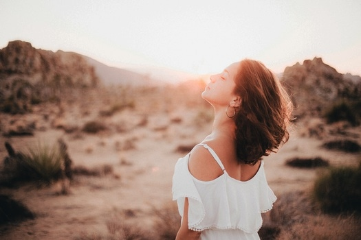 Free stock photo of sunset, person, woman, desert