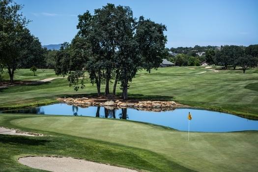 Golf Terrain Near Body of Water