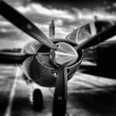 black-and-white, airplane, aircraft