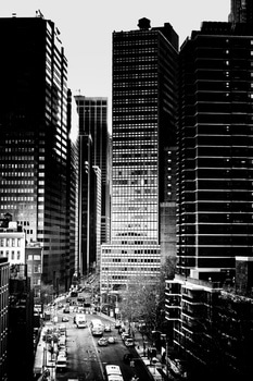 Buildings and City Grayscale Photo