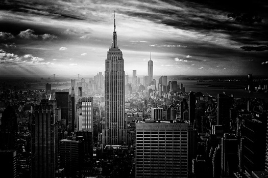 Gray Scale Photo of Empire State Building