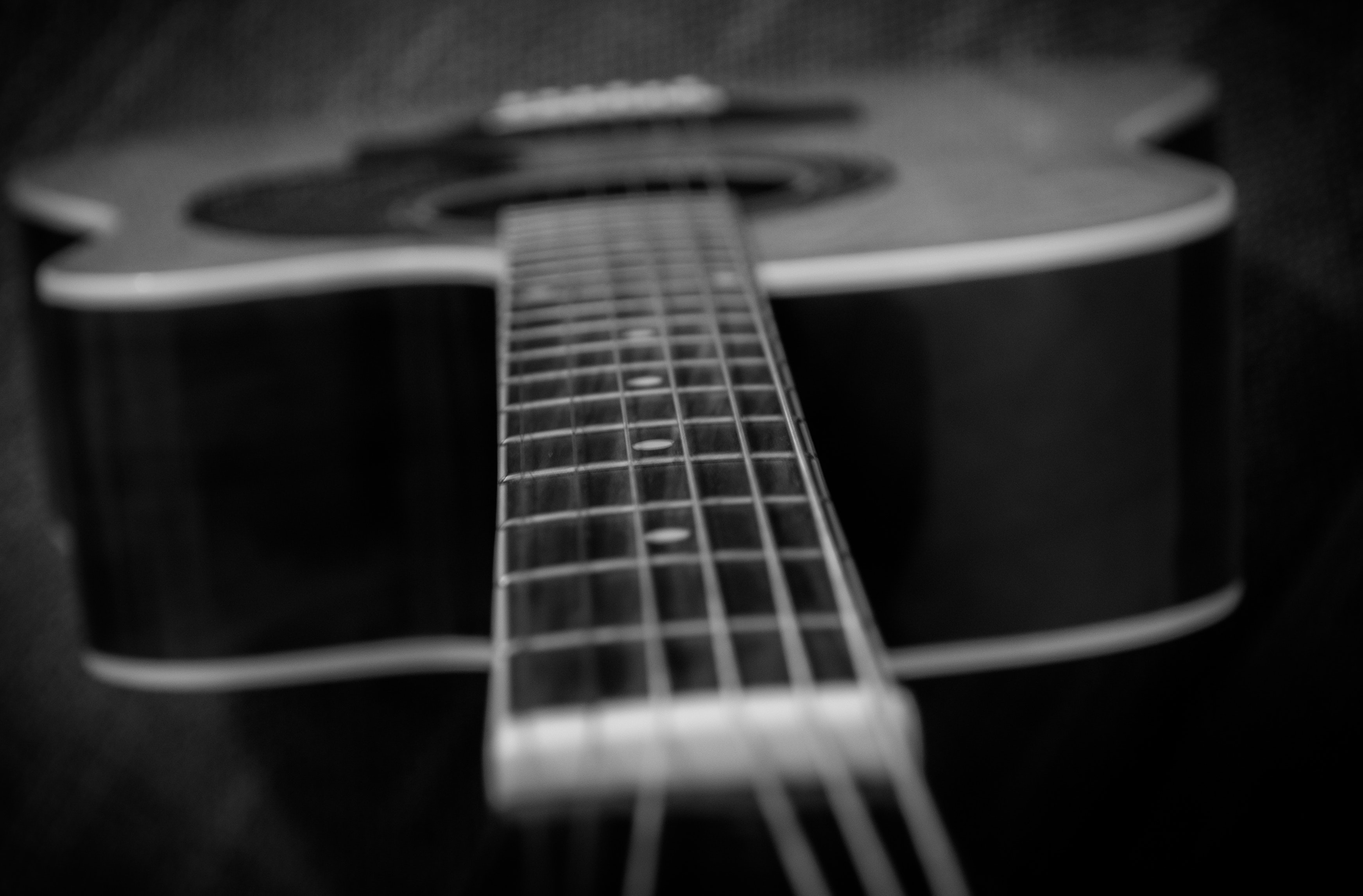 Free Stock Photo Of Acoustic Bass Black And White