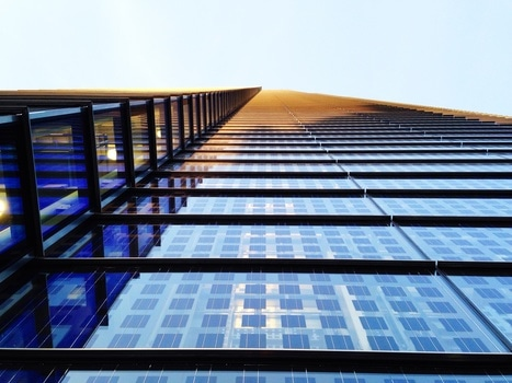 Blue and Black High Rise Building