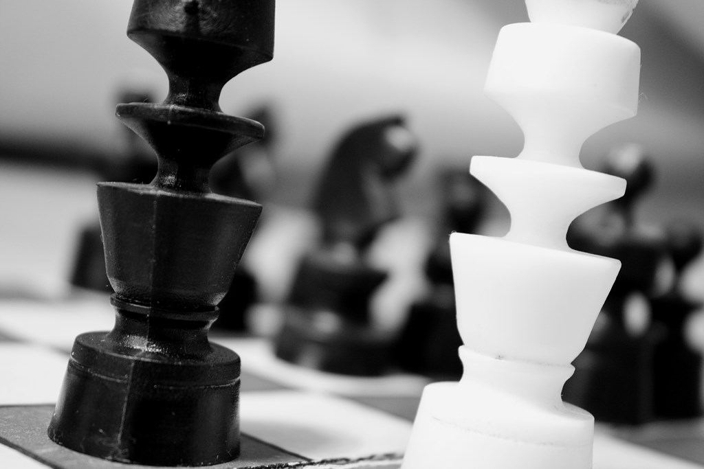 Free stock photo of black-and-white, chess, chessman