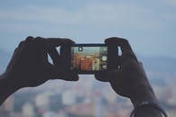 hand, iphone, smartphone