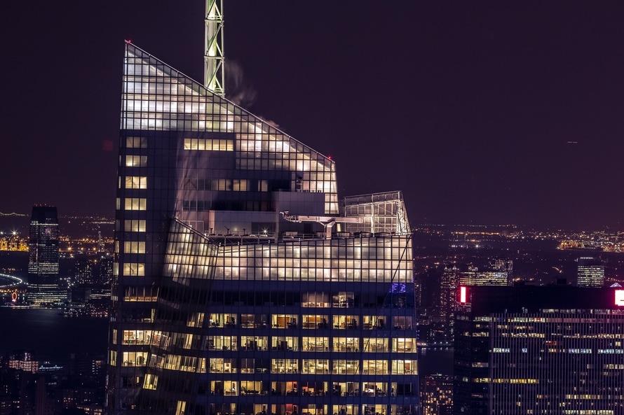 city, lights, night