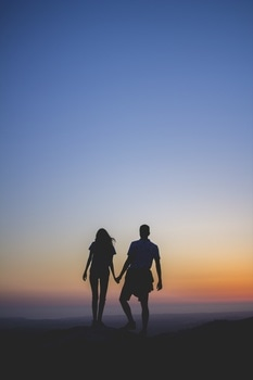 Free stock photo of sunset, couple, love, romantic