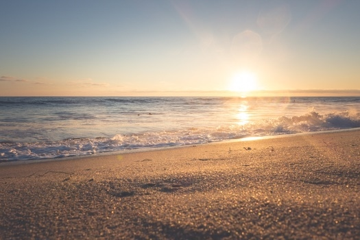 Free stock photo of sea, sunset, beach, sand