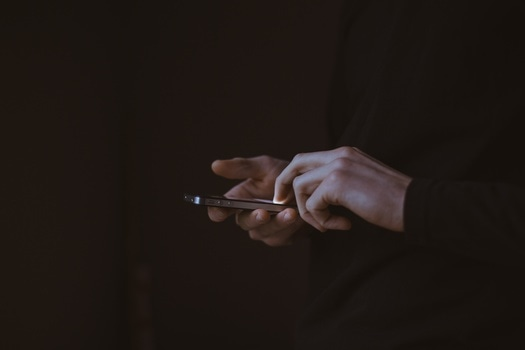 Free stock photo of hands, iphone, smartphone, typing