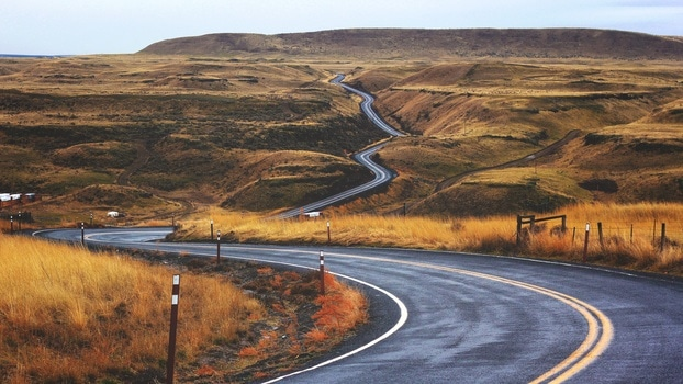 Free stock photo of road, endless, curves, tail