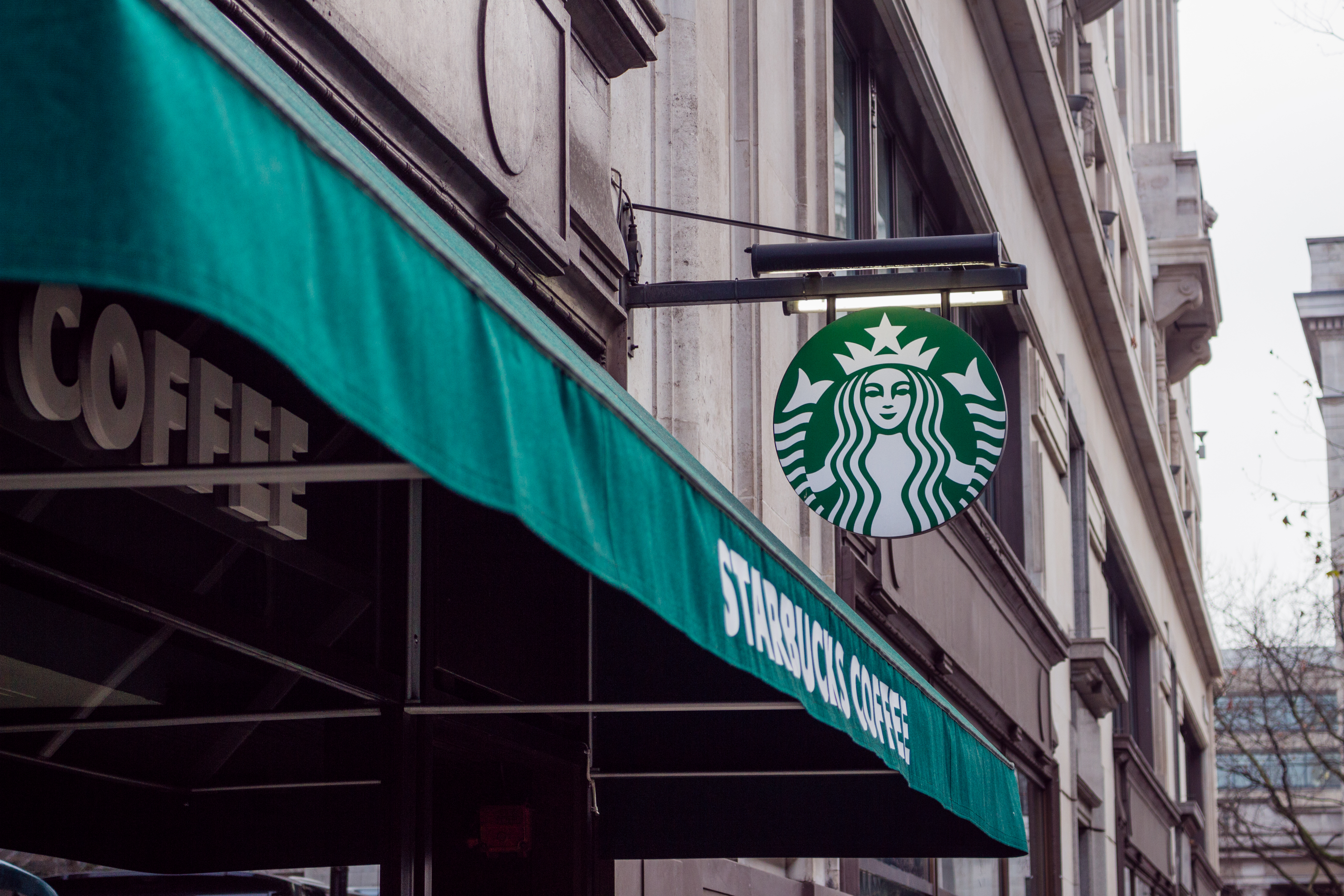 A Starbucks coffee store.