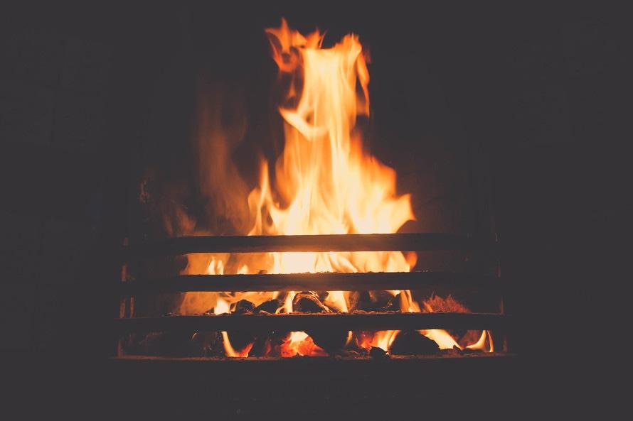 bonfire, burning, fire