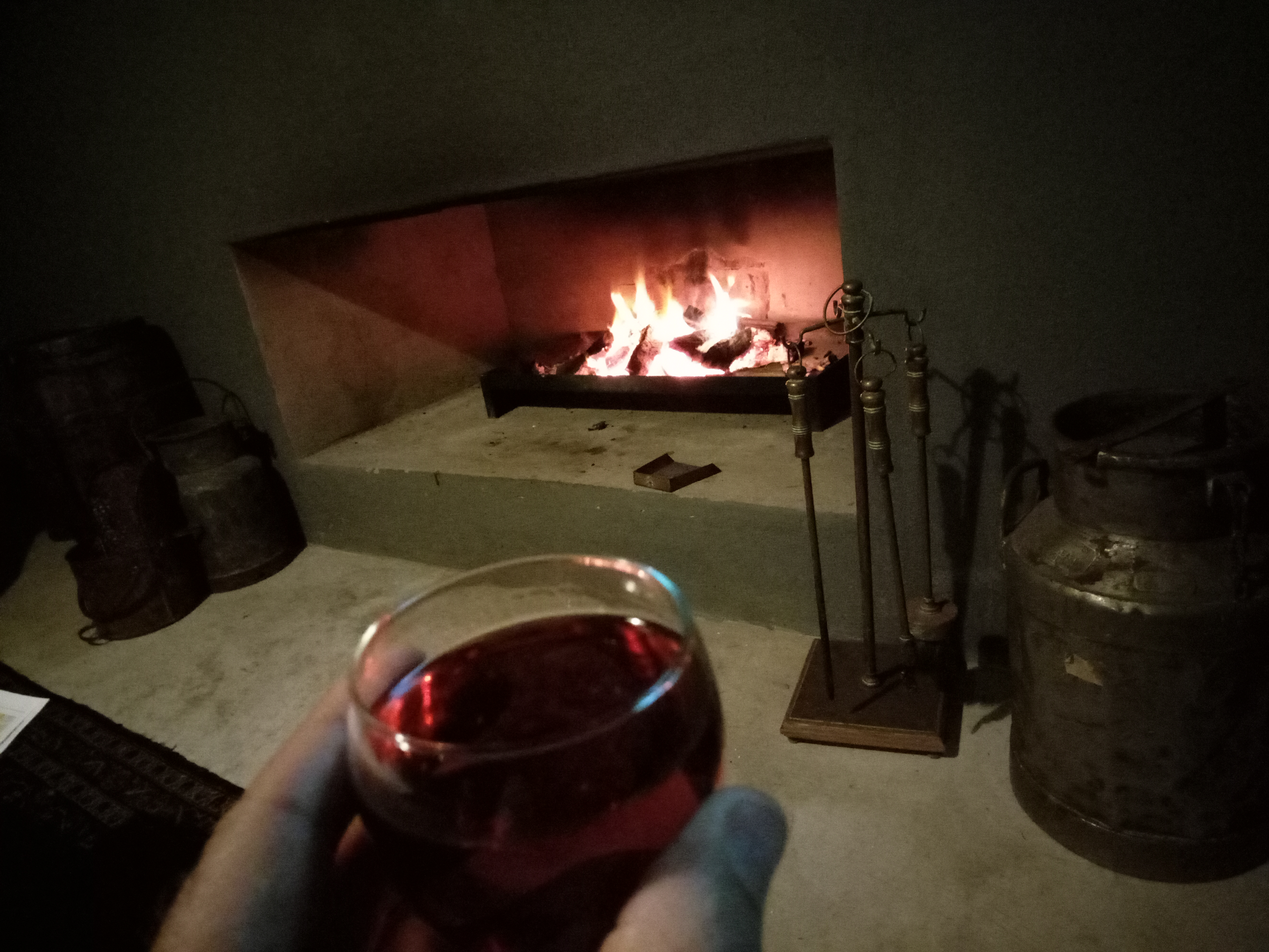 free stock photo of cosy fireplace red wine
