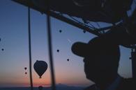 sky, sunset, flying