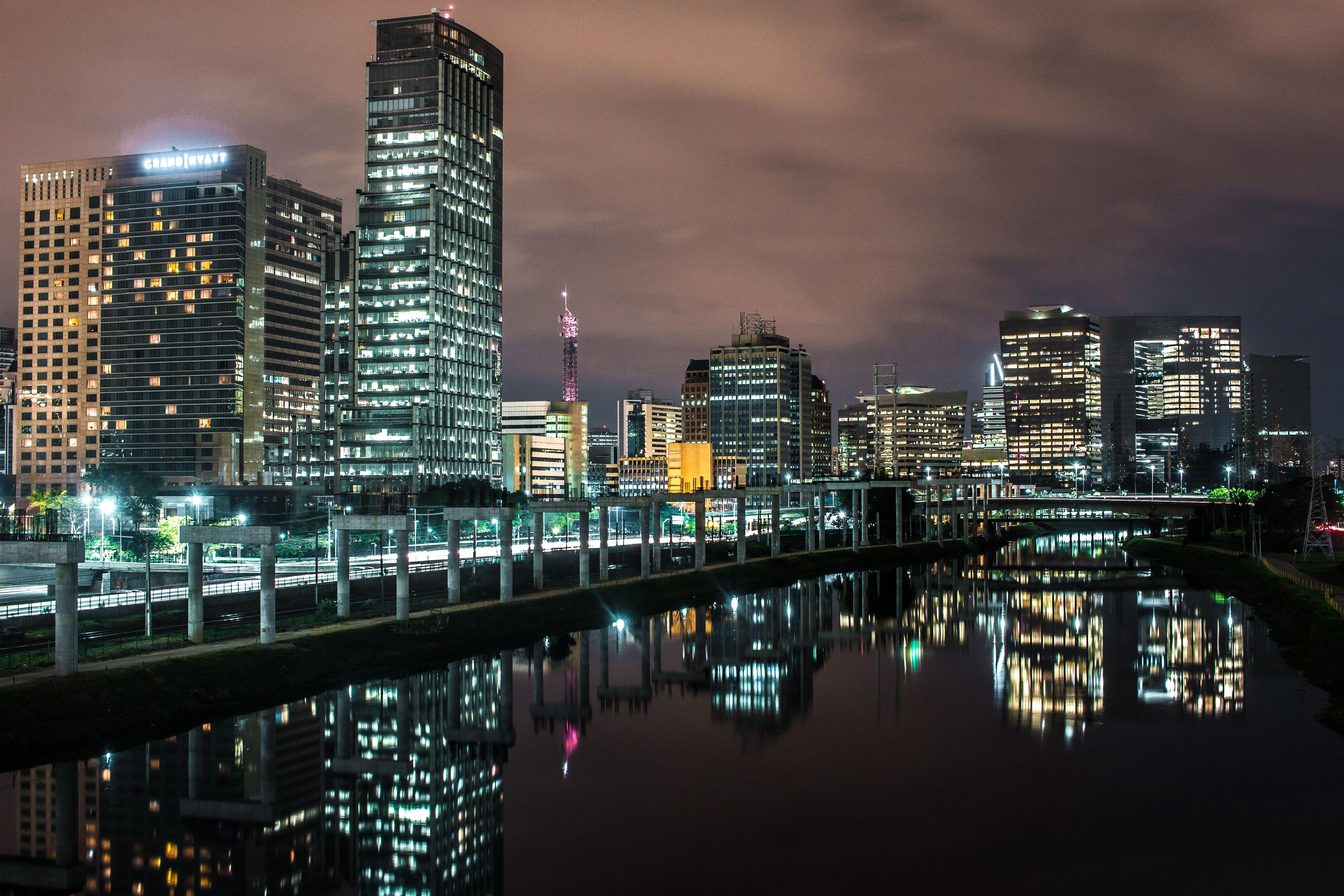 Photographing Cities At Night: Illuminated City At Night · Free Stock Photo