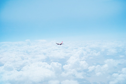 Free stock photo of sky, flying, clouds, airplane