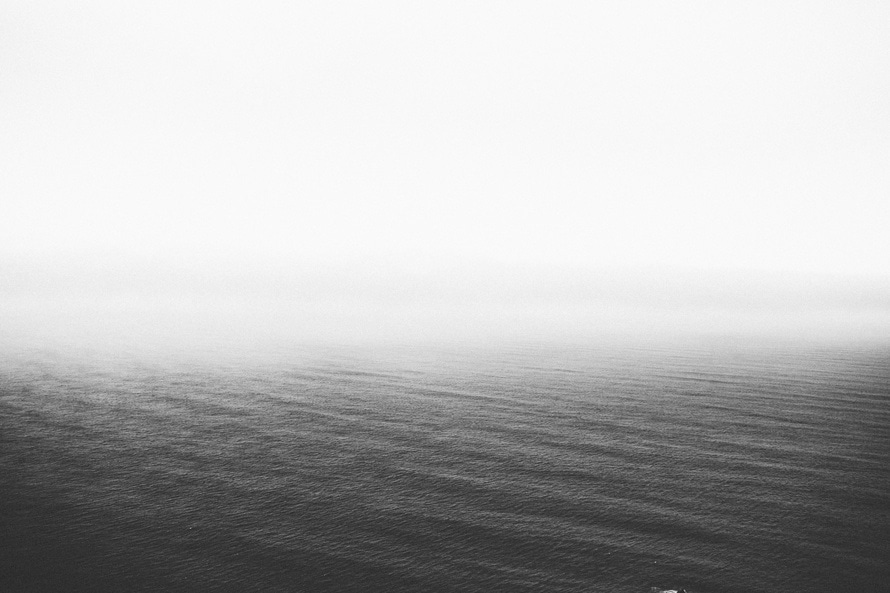 sea, black-and-white, water