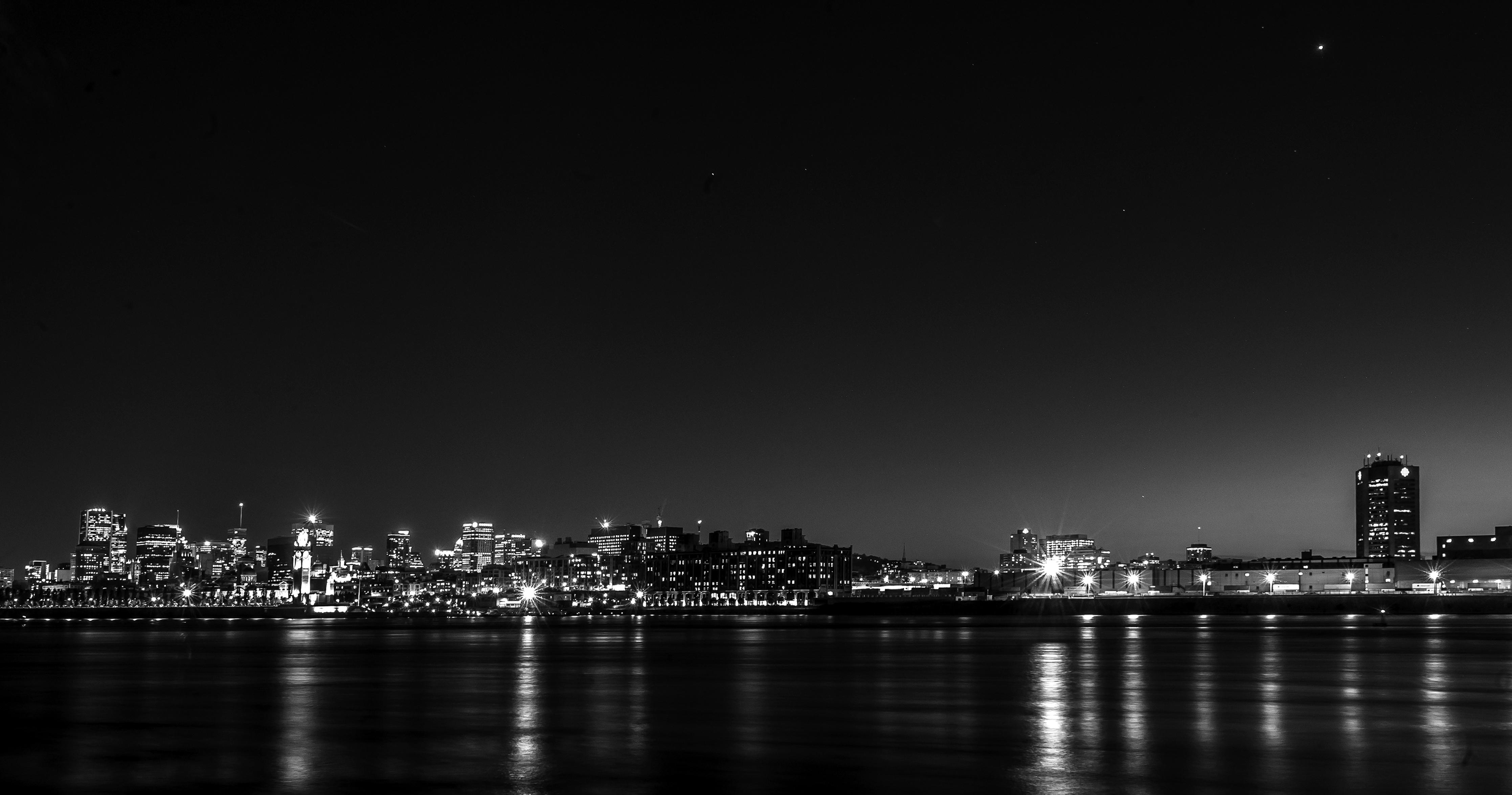 black . City Lit Up at Night Black Wallpaper  Pexels Free Stock Photos