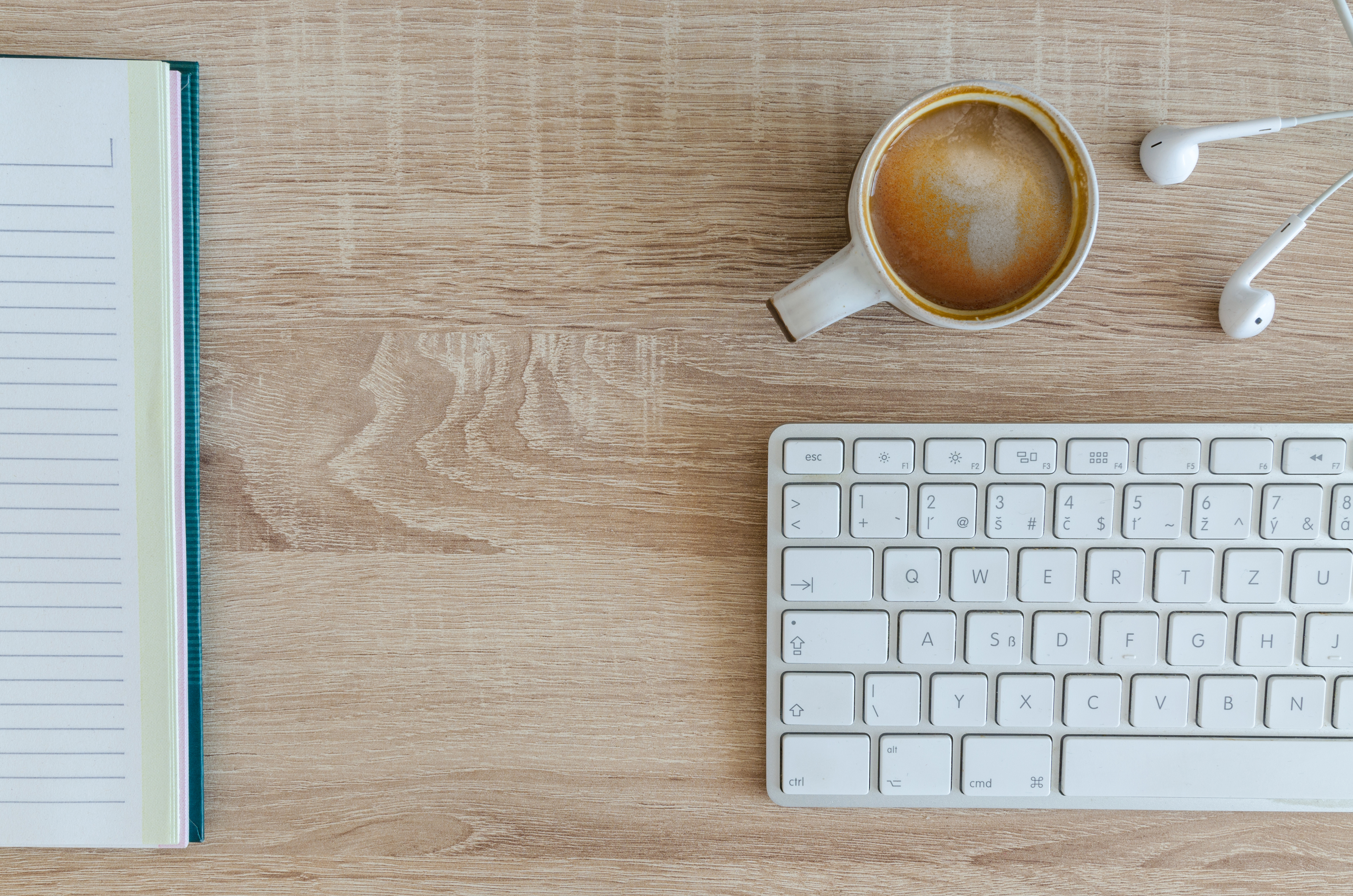 high angle view of coffee cup on table · free stock photo