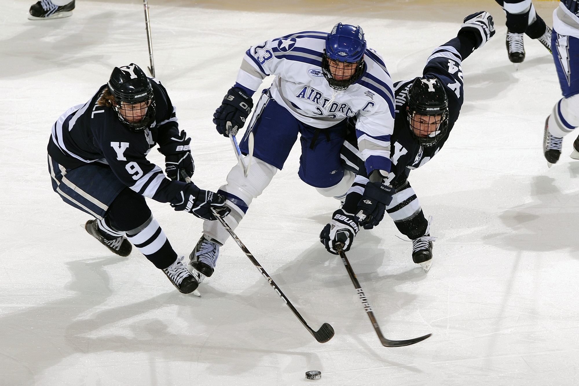 Hockeyskador uppstår efter tufft spel