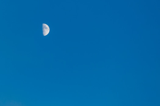 Free stock photo of sky, moon, blue sky, half moon