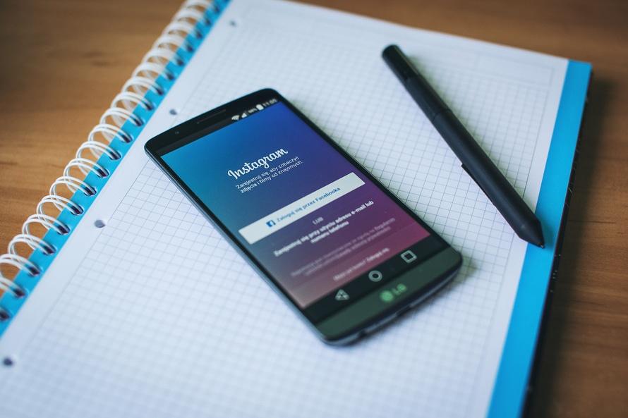smartphone, pen, instagram
