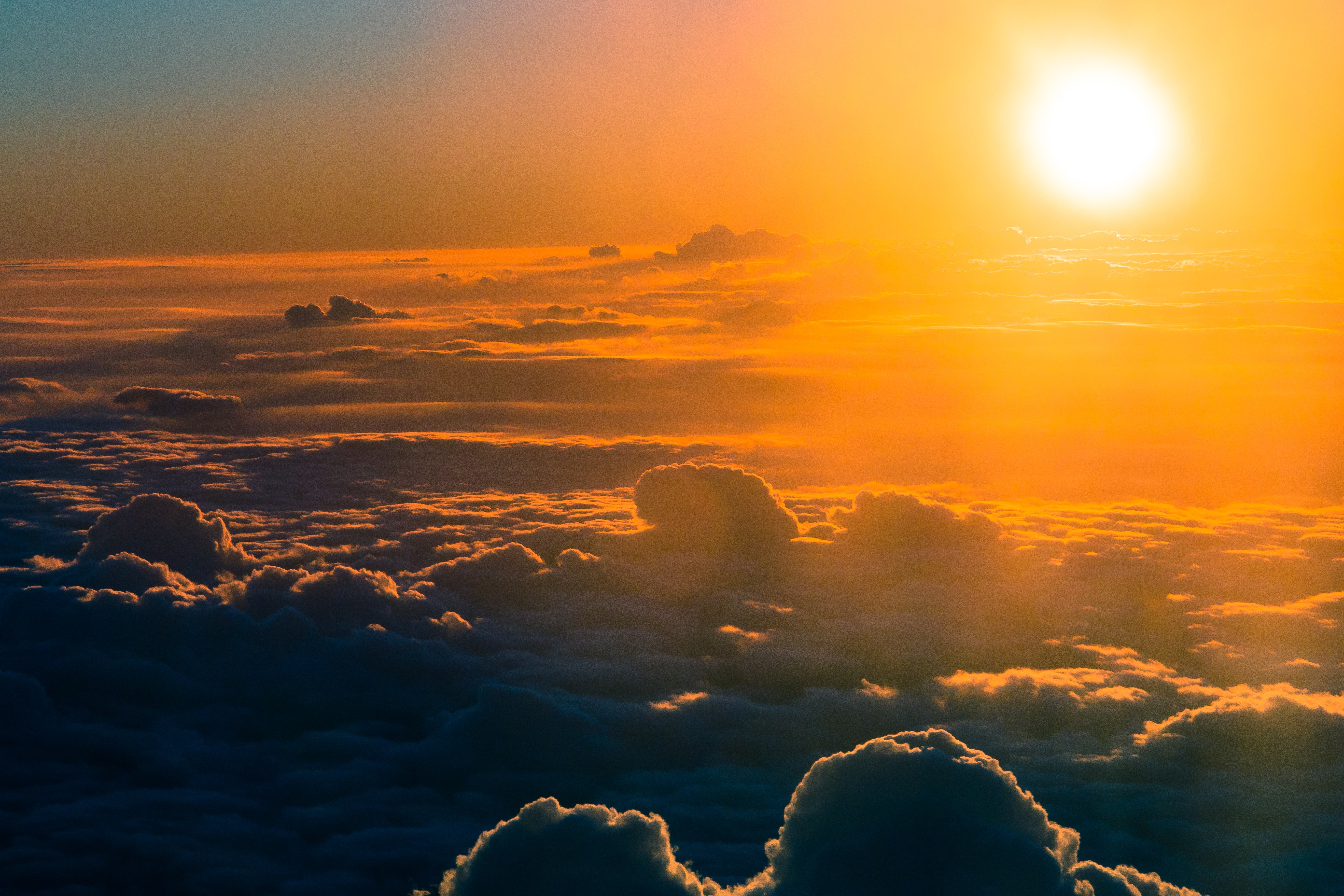 Free Stock Photo Of Backlit Bright Clouds